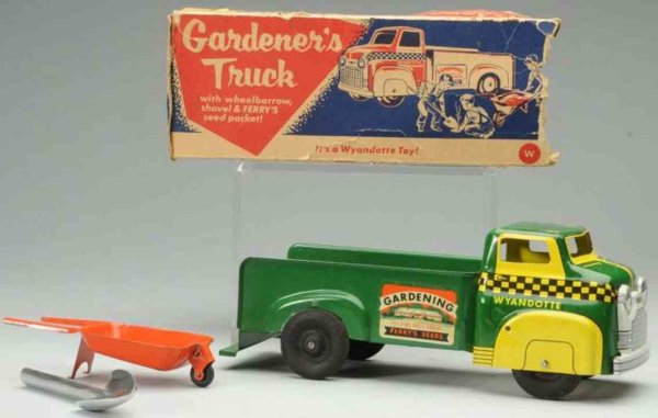 Wyandotte Tin-Trucks Gardeners truck made of pressed steel, excellent colors and