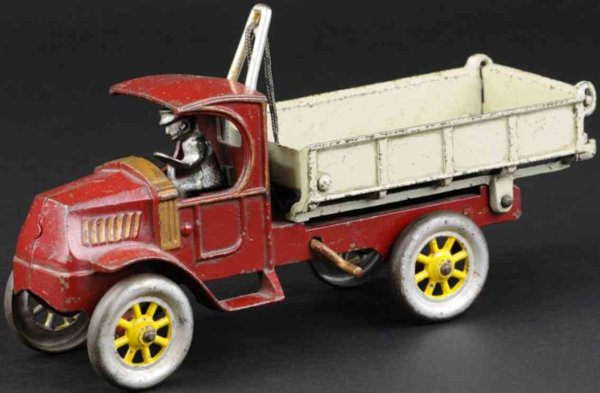 Kenton Hardware Co Cast-Iron trucks Mack dump truck made of cast iron, C Mack cab painted in r