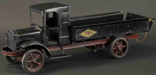 Kelmet Tin-Trucks Big boy White dump truck enclosed doorless cab, painted in