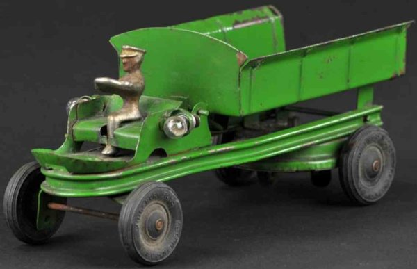 Kingsbury toys Tin-Trucks Contractorss dump truck made of pressed steel, painted in g