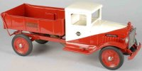 Buddy L Tin-Trucks International dump truck of pressed...