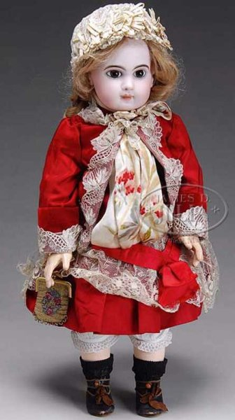 Jumeau Dolls Bebe doll a larger and exceptional example of the E J mold,