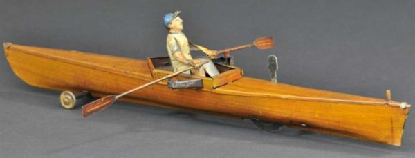 Guenthermann Tin-Ships Single oarsman  smallest in series, and scarce, depicts solo