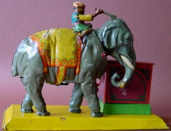 Eberl Hans Steam Toys-Drive Models Indian with elephant. The head of the elephant moves up and