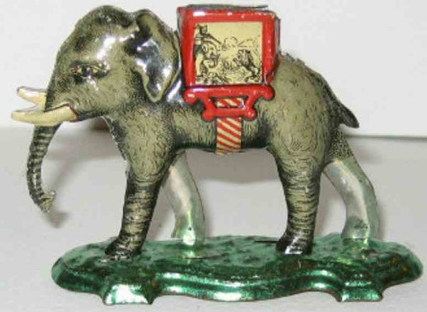 Meier Tin-Penny Toy Elephant. The piece is hollow and has an opening in the top