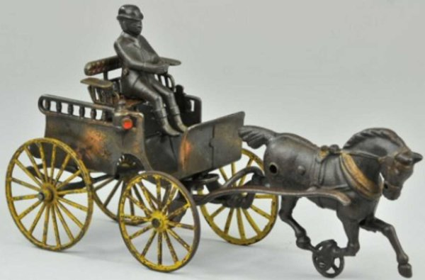 Dent Hardware Co Cast-Iron-Carriages English trap electroplated example, well detailed with remov
