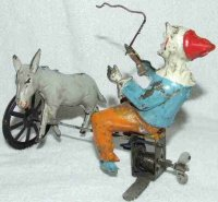 Guenthermann Tin-Clowns Circus Clown Trainer with Donkey...