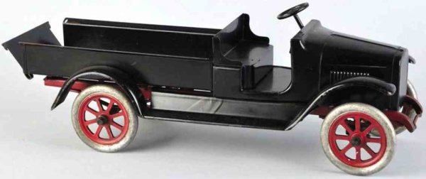 Buddy L Tin-Trucks Pressed steel express truck toy with original tailgate,  low
