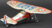 JEP Tine Ariplanes Monoplane made of  lithographed tin,...