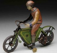Fischer Georg Tin-Motorcycles Motorcyclist with spring...
