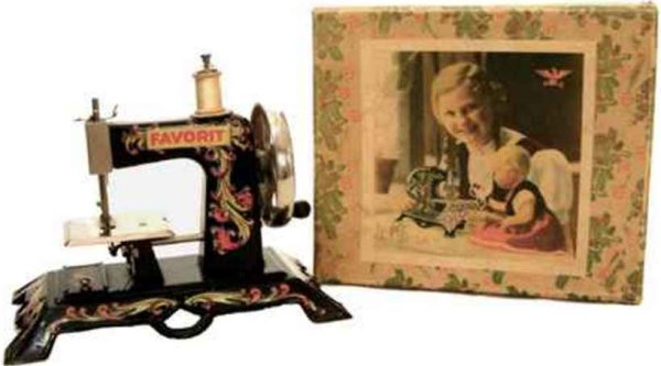 Casige Toy sewing machines Stitching machine, here with a special cardboard Christmas