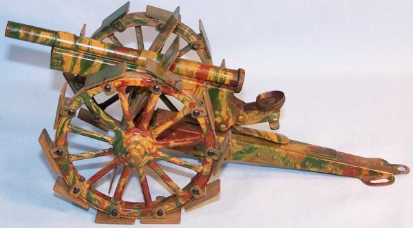 Maerklin Military Toys-Arms big field gun with feather train in mimikry spraying, with r