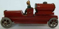 Meier Tin-Penny Toy Fire department tank car, not marked,...