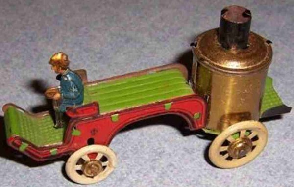 Distler Tin-Penny Toy Fire toy car #306 A cap might be missing on the top of the s