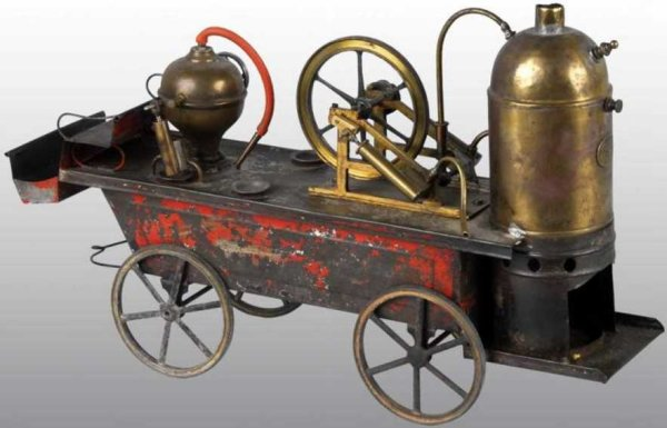 Plank Ernst Steam Toys-Drive Models Fire pumper. Two oscillating cylinders drive a single cylind