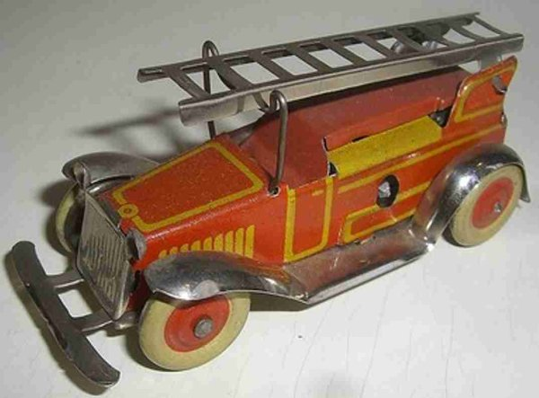 Fischer Georg Tin-Penny Toy Fire engine with clockwork