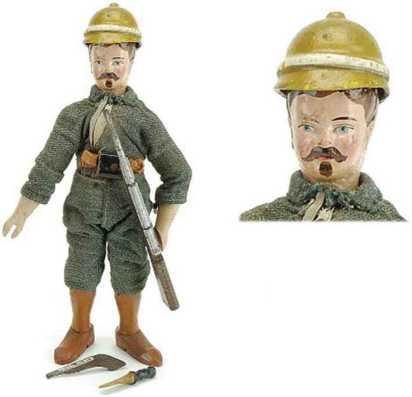 Schoenhut Wood-Figures Safari Figure - Naturalist cloth dressed wood jointed, with