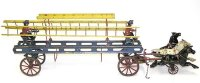 Wilkins Tin-Carriages 3-horse drawn fire ladder wagon,...