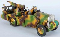 Hausser (Elastolin) Military-Vehicles Tinplate...