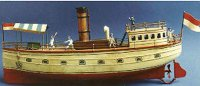 Bing Tin-Ships River steamer #155/51 with clockwork