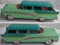 Bandai Tin-Cars Ford Fairlane station wagon with friction...