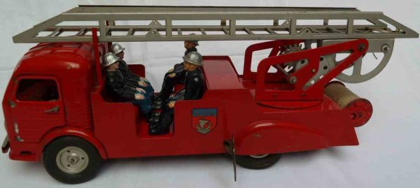 JRD Tin-Fire-Truck Simca Ford Cargo type FW09 fire ladder wagon of the Paris Fi