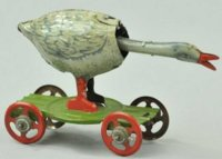 Distler Tin-Penny Toy Goose lithographed tin, push the...