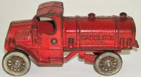 Williams AC Cast-Iron trucks Gasoline truck in red with...