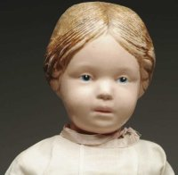 Schoenhut Dolls Large American carved wooden doll, girl...