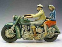 Tippco Tin-Motorcycles Harley Davidson lithographed with...