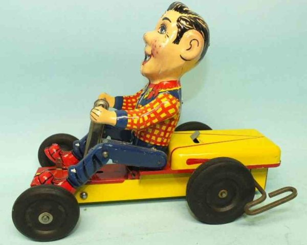 NY-LINT Co Tin-Figures Howdy Doody pump mobile lithographed tin windup toy, wound u