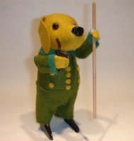 Schuco Tin-Dance Figures Dog with stick and pipe, with...