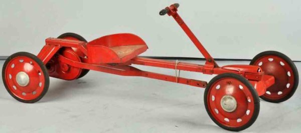 Parsons Company Tin-Other-Vehicles Irish mail ride-on toy made of pressed steel in red, manufac