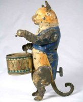 Guenthermann Tin-Figures Cat drummer windup toy. When...