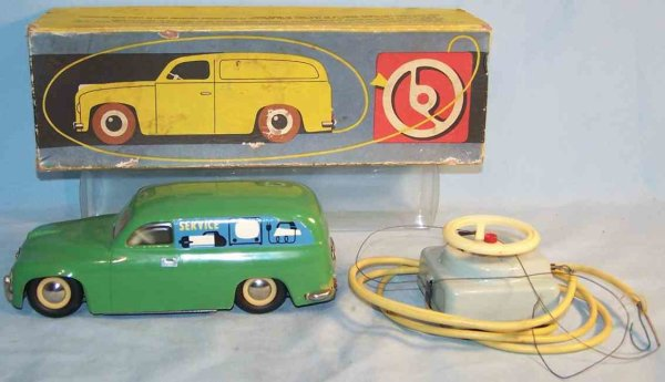 Ites Celluloid-Vehicles Promotional station wagon made of plastic with electric driv
