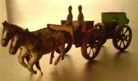 Fischer Georg Tin-Penny Toy Two-horse limber with cannon....
