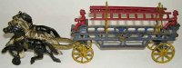 Hubley Cast-Iron-Carriages Eagle fire ladder wagon with...
