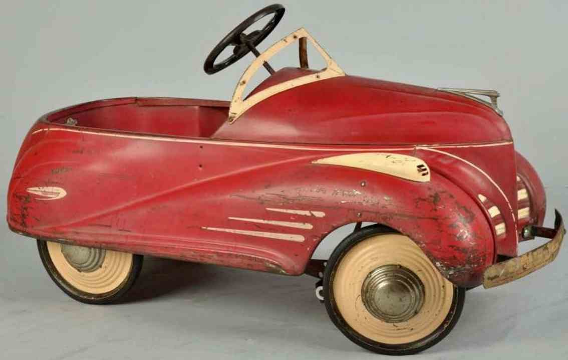 Toys Steelcraft Pressed Steel Toy Lincoln Zephyr Pedal Car Red