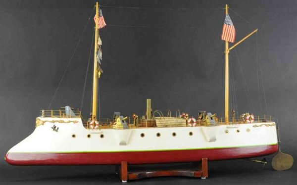 Bristol Model Steamship Company Wood-Ships Live steam gun ship, incredible detail to rigging and app