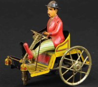 PAYA Tin-Other-Vehicles Man in runabot, lithographed tin,...