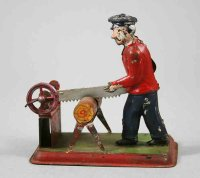 Unknown Steam Toys-Drive Models Sawing worker of...