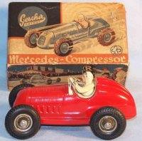 Gescha Tin-Race-Cars Mercedes Compressor made of tin with...