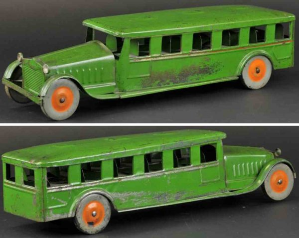 Corcoran Tin-Buses Night coach bus made of pressed  steel, painted in green ove