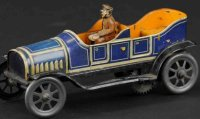 Fischer Georg Tin-Oldtimer Phaeton lithographed tin, blue...