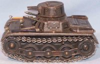 GAMA Military-Vehicles Tin tank with metal chains,...