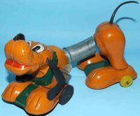 Linemar Tin-Animals Walt Disney mechanical stretchy Pluto...