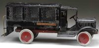 Keystone Tin-Trucks Police patrol truck with  open cab...