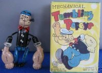 Linemar Tin-Figures Tumbling Popeye with strong arms,...