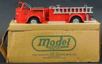 Doepke Tin-Fire-Truck Fire pumper with box, painted...