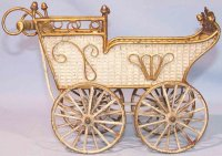 Maerklin Dolls Accessories Doll carriage made of tin,...